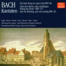 Cantate BWV80, BWV137, BWV26 - CD Audio di Johann Sebastian Bach,Gewandhaus Orchester Lipsia,Hans Joachim Rotzsch