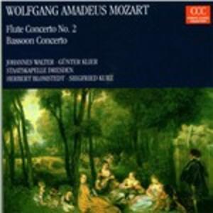 Concerto per flauto n.2 - Concerto per clarinetto - CD Audio di Wolfgang Amadeus Mozart,Staatskapelle Dresda,Siegfried Kurz,Johannes Walter