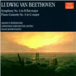 Sinfonia n.4 in Si bemolle - Concerto per pianoforte n.4 in Sol - CD Audio di Ludwig van Beethoven,Gewandhaus Orchester Lipsia,Franz Konwitschny,Amadeus Webersinke