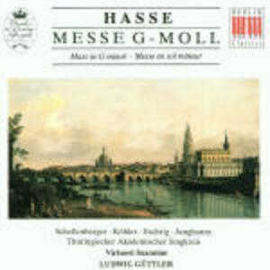 Messa in Sol minore - CD Audio di Johann Adolph Hasse,Ludwig Güttler,Virtuosi Saxoniae