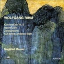 Klavierstück n.6 - Nachstudie - Zwiesprache - Auf Einen Anderen Blatt - CD Audio di Wolfgang Rihm