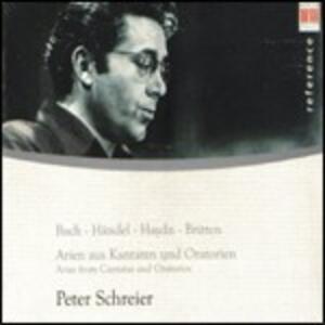 Arie e cantate da oratori - CD Audio di Johann Sebastian Bach,Benjamin Britten,Franz Joseph Haydn,Georg Friedrich Händel,Peter Schreier