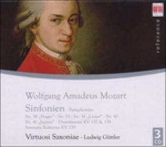 Symphonies No.38, 33, 36, 40 - CD Audio di Wolfgang Amadeus Mozart