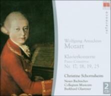 Concerti per fortepiano n.17, n.18, n.19, n.25 - CD Audio di Wolfgang Amadeus Mozart