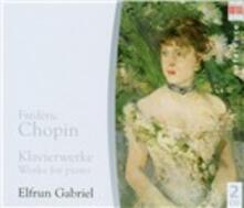 Opere per pianoforte - CD Audio di Fryderyk Franciszek Chopin,Elfrun Gabriel