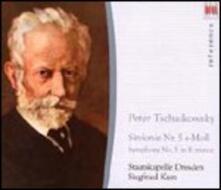 Sinfonia n.5 - CD Audio di Pyotr Ilyich Tchaikovsky,Staatskapelle Dresda,Siegfried Kurz