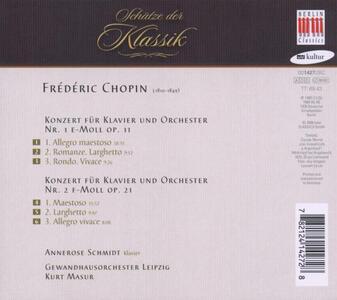 Concerti per pianoforte n.1, n.2 - CD Audio di Fryderyk Franciszek Chopin - 2