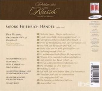 Der Messias - CD Audio di Georg Friedrich Händel