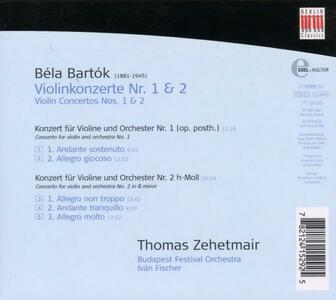 Concerti per Violino 1 & 2 - CD Audio di Bela Bartok - 2