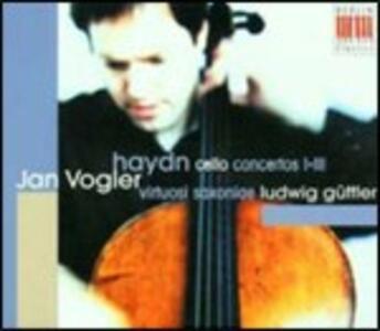 Concerti per violoncello n.1, n.2, n.3 - CD Audio di Franz Joseph Haydn,Jan Vogler,Ludwig Güttler,Virtuosi Saxoniae