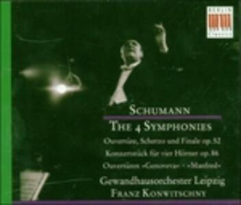 Sinfonie complete - CD Audio di Robert Schumann,Franz Konwitschny
