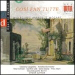 Così fan tutte - CD Audio di Wolfgang Amadeus Mozart