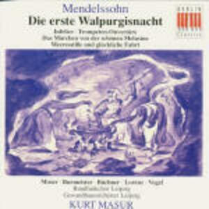 Die Erste Walpurgist - CD Audio di Felix Mendelssohn-Bartholdy,Kurt Masur,Gewandhaus Orchester Lipsia,Edda Moser,Siegfried Lorenz,Annelies Burmeister,Siegfried Vogel