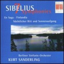 Sinfonie - CD Audio di Jean Sibelius,Kurt Sanderling,Berliner Symphoniker