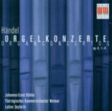 Concerti per organo op.4 n.1, n.2, n.3, n.4 - CD Audio di Georg Friedrich Händel