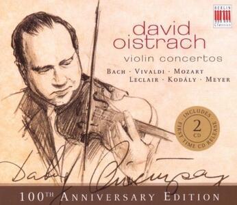 Concerto per violino / Concerti per due violini BWV1043 / Concerto in La KV219 - CD Audio di Johann Sebastian Bach,Wolfgang Amadeus Mozart,Ernst Hermann Meyer,David Oistrakh,Otmar Suitner,Staatskapelle Berlino