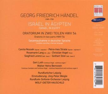 Israel in Aegypten - CD Audio di Georg Friedrich Händel - 2