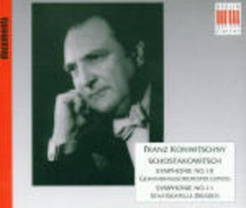 Sinfonie n.10, n.11 - CD Audio di Dmitri Shostakovich,Franz Konwitschny