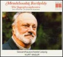 Sinfonie giovanili n.1-12 - Movimento sinfonico in Do minore - CD Audio di Felix Mendelssohn-Bartholdy,Kurt Masur,Gewandhaus Orchester Lipsia