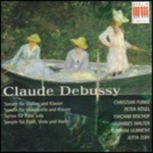 Sonata per violino in Sol minore - Sonata per flauto e viola L137 - CD Audio di Claude Debussy