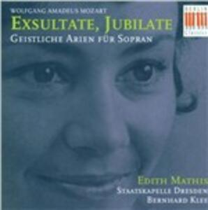 Exsultate, Jubilate - CD Audio di Wolfgang Amadeus Mozart