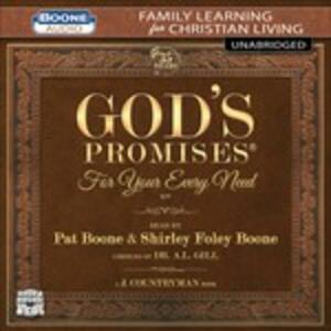 God's Promises for Yourevery Need - CD Audio di Pat Boone