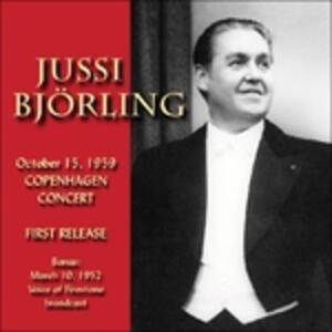 October 15, 1959 -.. - CD Audio di Jussi Björling