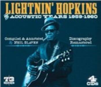 The Acoustic Years 1959-1960 - CD Audio di Lightnin' Hopkins