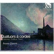 Quartetti per archi - CD Audio di Claude Debussy,Maurice Ravel,Henri Dutilleux,Arcanto Quartett