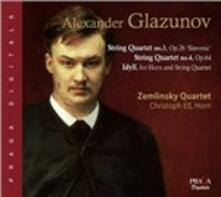 Quartetti n.3, n.4 - Idillio - SuperAudio CD ibrido di Alexander Kostantinovich Glazunov,Zemlinsky Quartet