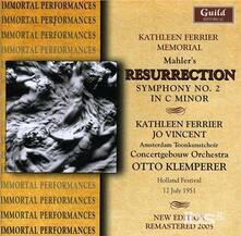 Resurrection - Sym. No. 2 in - CD Audio di Gustav Mahler