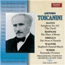 Haydn, Respighi, Sibelius - CD Audio di Arturo Toscanini