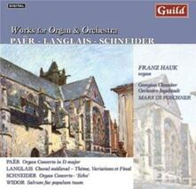 Works for Organ & Orchestra - CD Audio di Franz Hauk