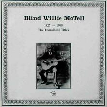 1927-49 - CD Audio di Blind Willie McTell