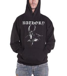 Idee regalo Felpa con Cappuccio Bathory. Goat Plastic Head