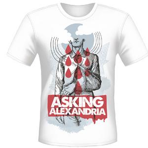 Idee regalo T-shirt unisex Asking Alexandria. Wayne Plastic Head