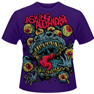 Idee regalo T-shirt unisex Asking Alexandria. Eyeballs Plastic Head