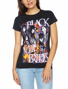 Idee regalo T-Shirt donna Black Veil Brides. Set On Fire Plastic Head