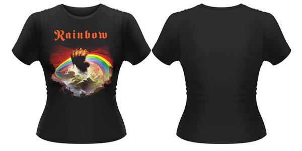 Idee regalo T-Shirt donna Rainbow. Rising Plastic Head