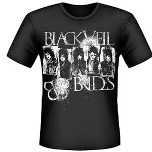Idee regalo T-shirt unisex Black Veil Brides. Stripes Plastic Head