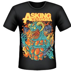 Idee regalo T-shirt unisex Asking Alexandria. Monster Plastic Head