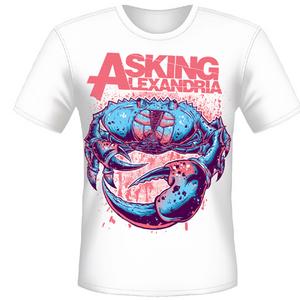 Idee regalo T-shirt unisex Asking Alexandria. Crab Plastic Head