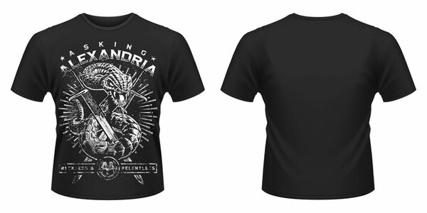 Idee regalo T-Shirt unisex Asking Alexandria. Snake Plastic Head