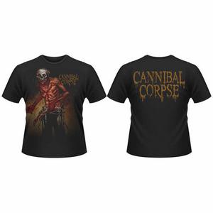Idee regalo T-Shirt unisex Cannibal Corpse. Skull Butcher Front & Back Print Plastic Head