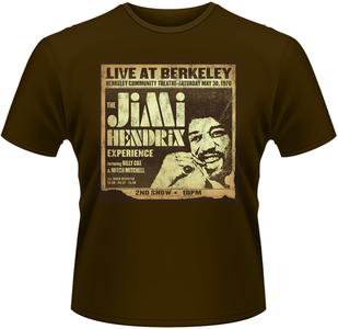 Idee regalo T-Shirt uomo Jimi Hendrix. Live at Berkeley Plastic Head