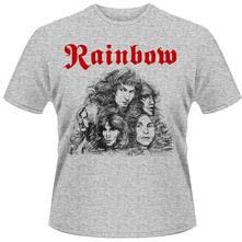 T-Shirt unisex Rainbow. Long Live Rock & Roll Grey Front & Back Print