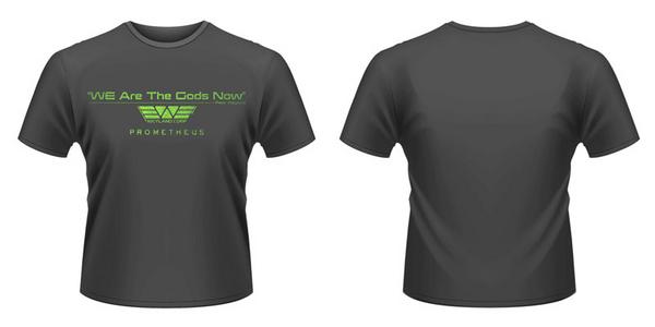 Idee regalo T-Shirt Prometheus. We Are The Gods Now Plastic Head