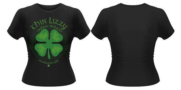 T-Shirt donna Thin Lizzy. Four Leaf Clover