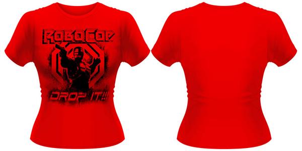 Idee regalo T-Shirt donna Robocop. Drop It Plastic Head