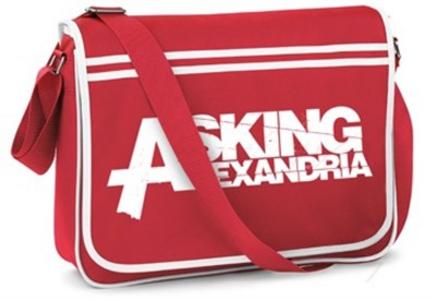 Idee regalo Borsa da viaggio Asking Alexandria. Logo Retro Plastic Head